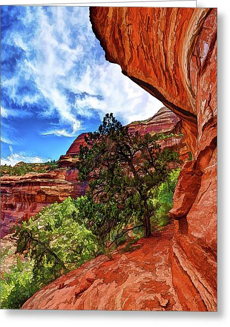 Boynton Canyon Cliffs 2 Greeting Card by ABeautifulSky Photography