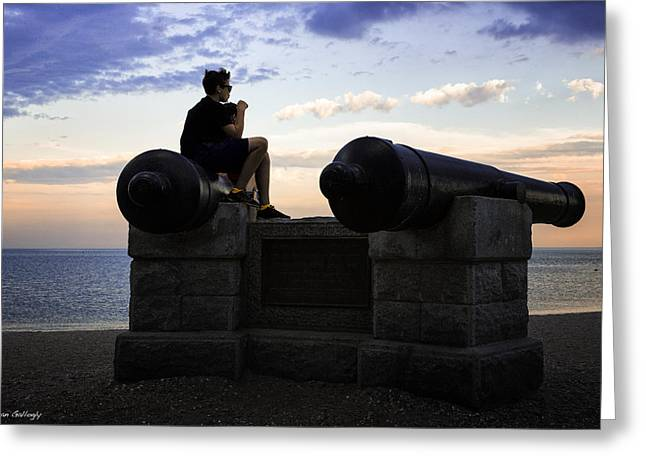 Westport Ct Greeting Cards - Boys on the Canons Greeting Card by Fran Gallogly