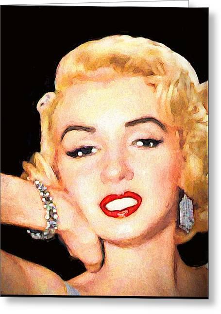 Movie Art Greeting Cards - Bracelet On Marilyn Greeting Card by John Farr