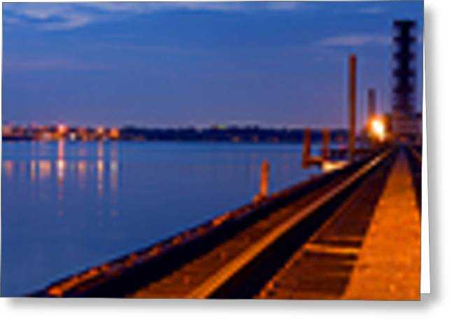Bradenton Greeting Cards - Bradenton Railway Bridge Greeting Card by Rolf Bertram