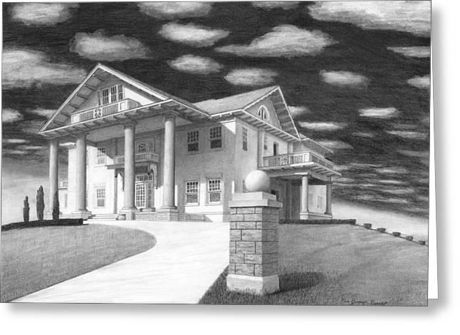 Kkk Greeting Cards - Brady Mansion Greeting Card by Ken Brown Pioneer