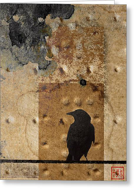 Braille Crow Greeting Card by Carol Leigh