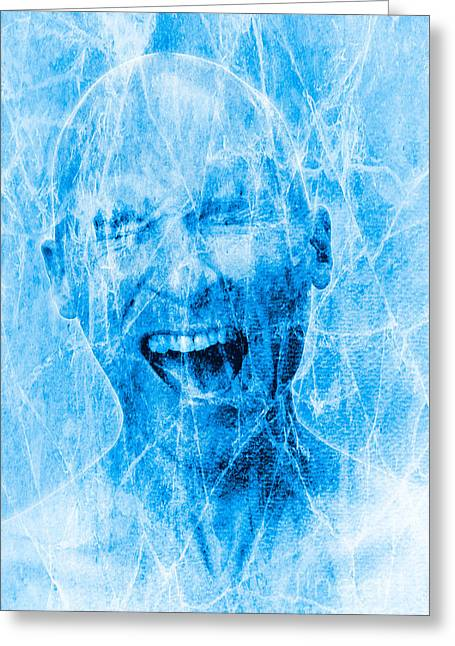 Brain Freeze Greeting Card by George Mattei