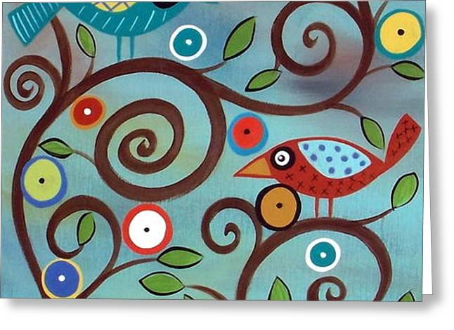 Branch Birds Greeting Card by Karla Gerard