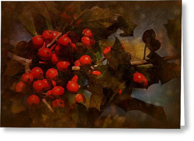 Berry Greeting Cards - Branch Of Berries Greeting Card by Angie Tirado