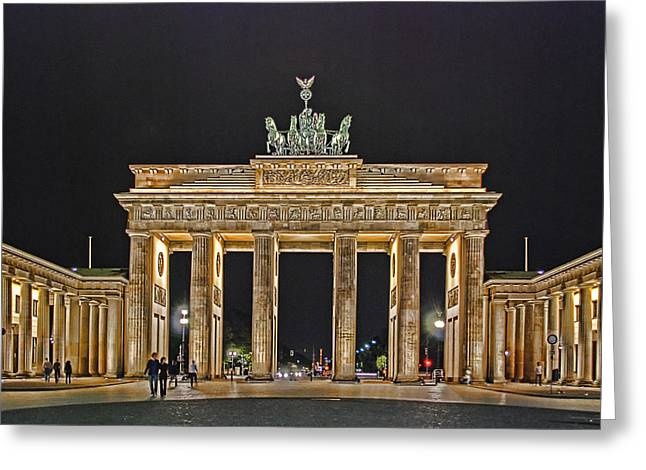 Tor Greeting Cards - Brandenburg Gate Greeting Card by Joachim G Pinkawa