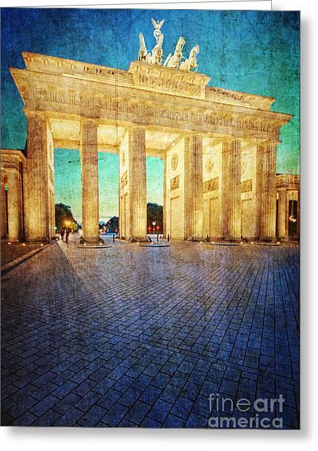 Brandenburg Digital Art Greeting Cards - Brandenburg Gate Greeting Card by Ryan Wach