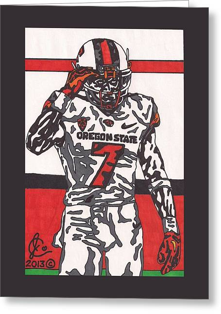 Brandin Cooks 1 Greeting Card by Jeremiah Colley