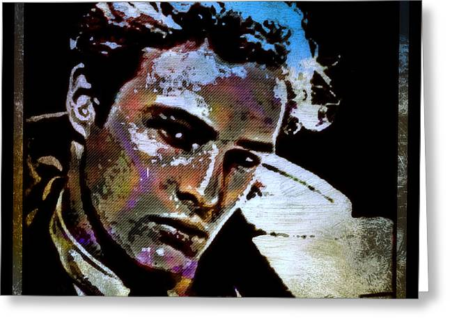 Classic Hollywood Mixed Media Greeting Cards - Brando Greeting Card by Wbk