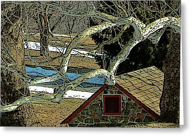 Brandywine Springhouse Greeting Card by Gordon Beck