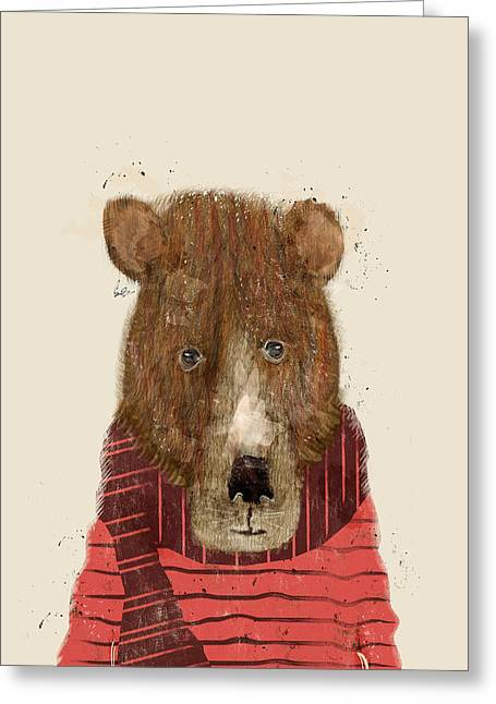 Brown Bear Digital Greeting Cards - Branson Bear Greeting Card by Bri Buckley