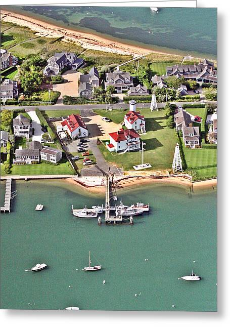 Brant Point Greeting Cards - Brant Point Coast Guard Station Nantucket Harbor 2 Greeting Card by Duncan Pearson