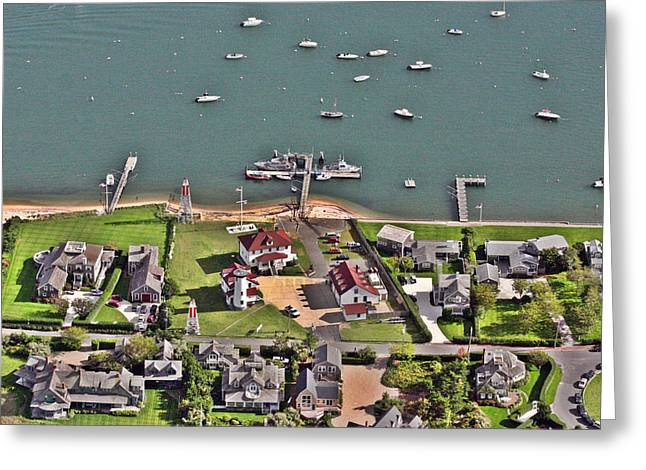 Brant Point Coast Guard Station Nantucket Harbor  Greeting Card by Duncan Pearson