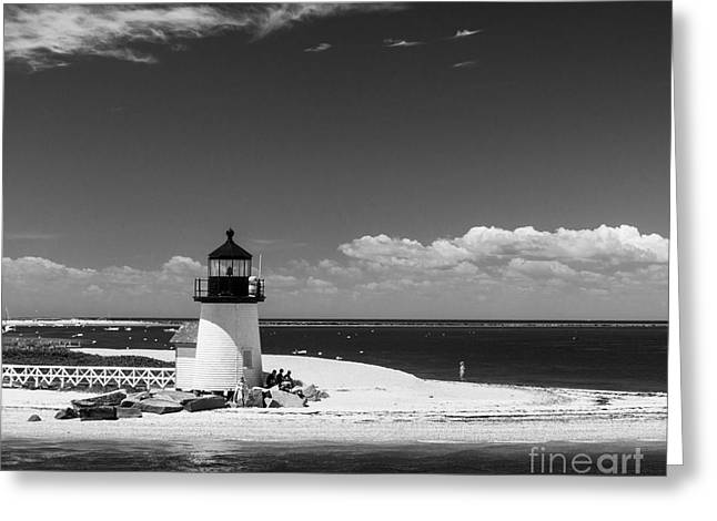 Brant Point Lighthouse Greeting Card by Michelle Wiarda