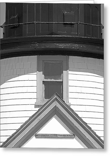 Shadows Greeting Cards - Brant Point Lighthouse Nantucket Greeting Card by Charles Harden