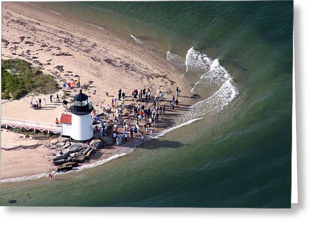 Brant Point Greeting Cards - Brant Point Lighthouse Nantucket Massachusetts Greeting Card by Duncan Pearson