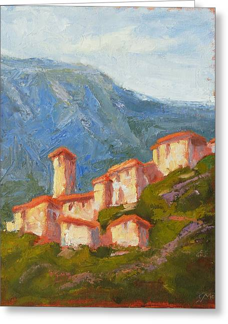 Provence Village Greeting Cards - Brantes  Greeting Card by Steven  McDonald