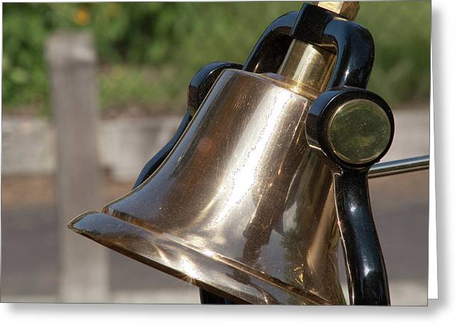 Brass Bell Greeting Card by Craig Hosterman