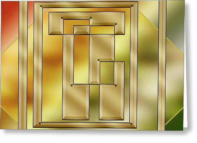 Brass Design 8 - Chuck Staley Greeting Card by Chuck Staley
