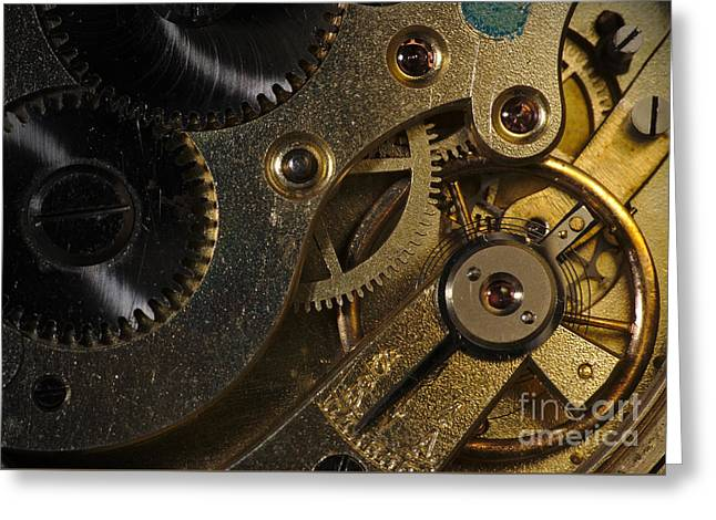 Mechanism Greeting Cards - Brass Hearted Greeting Card by Angelo DeVal