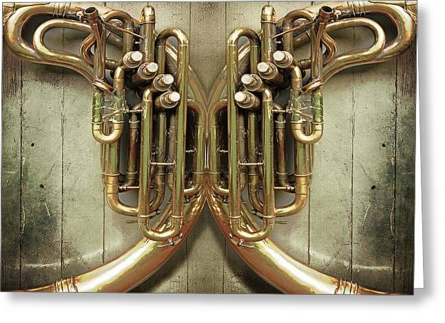 Brass Section Greeting Card by John Anderson