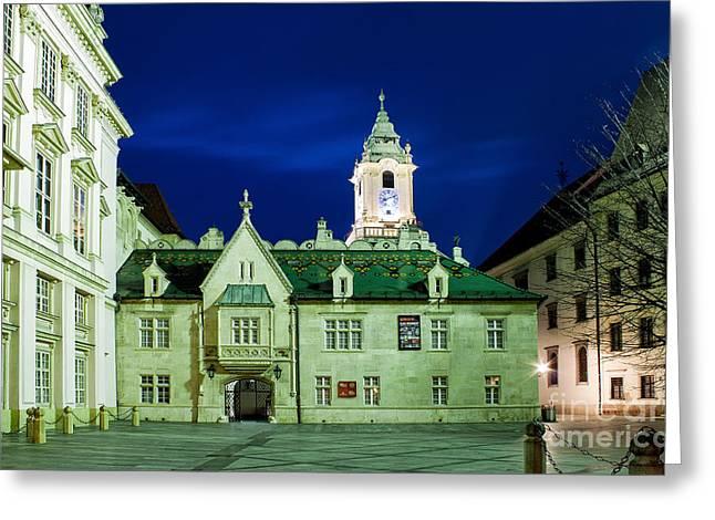 Bratislava Old Town Hall Greeting Card by Christian Hallweger