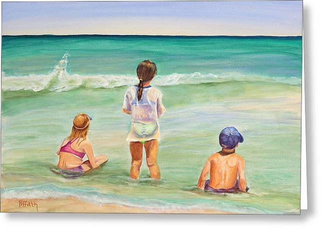 On The Beach Greeting Cards - Brats Greeting Card by Patricia Piffath