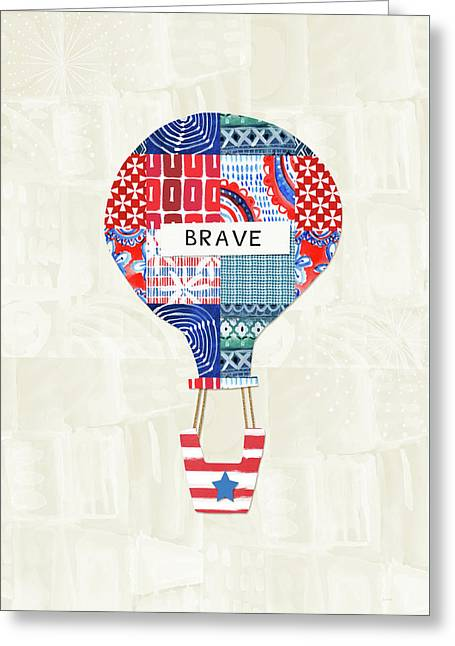 Brave Balloon- Art By Linda Woods Greeting Card by Linda Woods