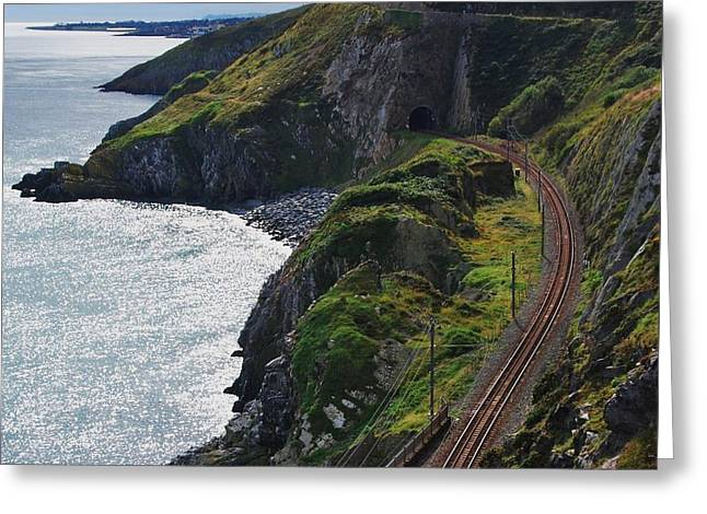 Shower Head Greeting Cards - Bray Head Railroad 2 Greeting Card by Marcus Dagan