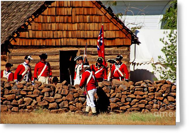 Colonial Actors Greeting Cards - Breaching The Wall Greeting Card by John Langdon