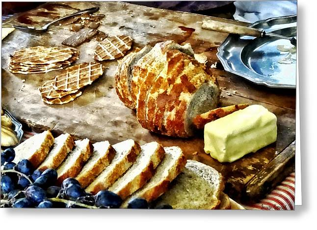 Bread And Butter Greeting Card by Susan Savad