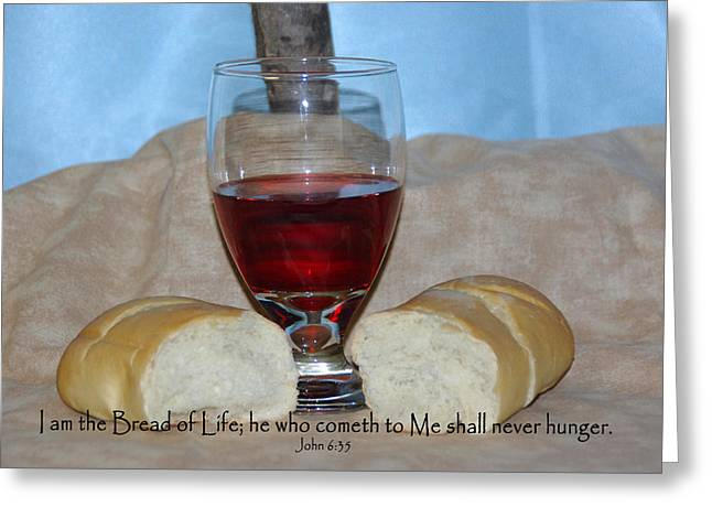 Bible Greeting Cards - Bread of Life Greeting Card by Robyn Stacey