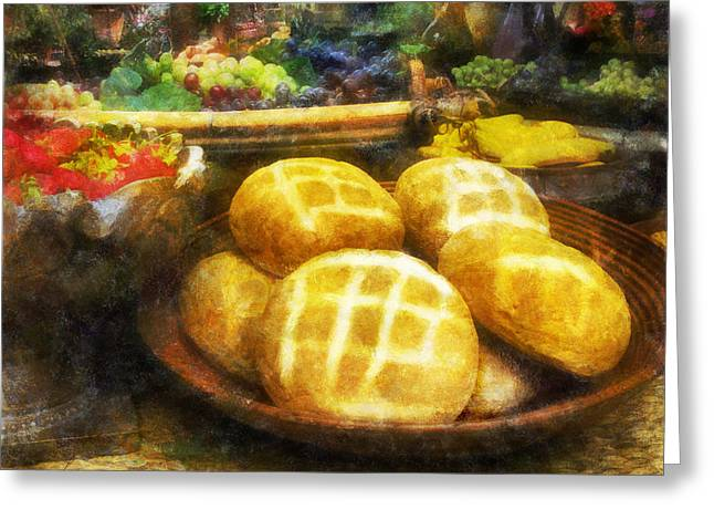 Banquet Digital Art Greeting Cards - Bread Table Greeting Card by Francesa Miller