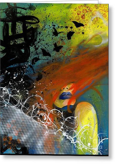 Break Free Greeting Card by Aramis Hamer