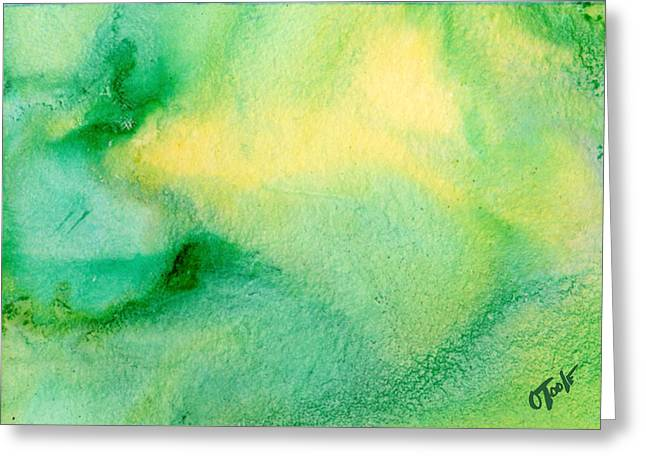 Abstract Expression Greeting Cards - Break In The Weather Greeting Card by Ken OToole