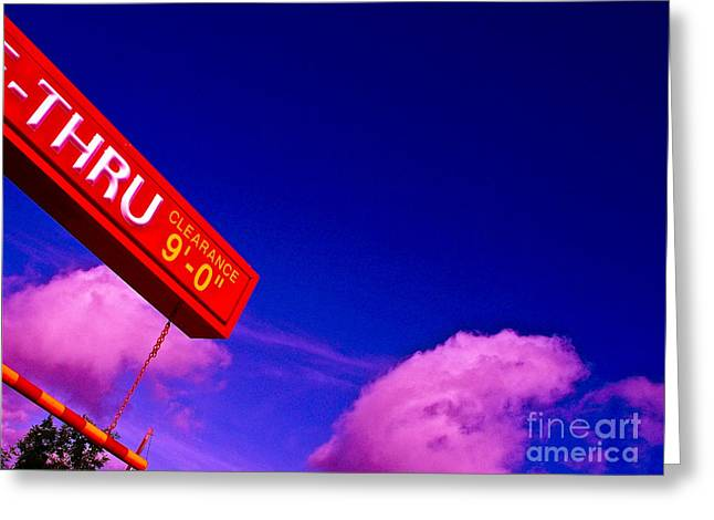 Drive Through Greeting Cards - Break Today Greeting Card by Chuck Taylor