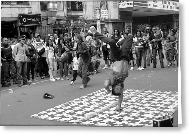 Breakdance At Bogota Colombia Greeting Card by Daniel Gomez