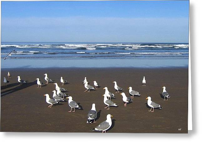 Breakfast At Cannon Beach Greeting Card by Will Borden