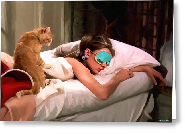 Capote Greeting Cards - Breakfast at Tiffanys 4 Greeting Card by Gabriel T Toro