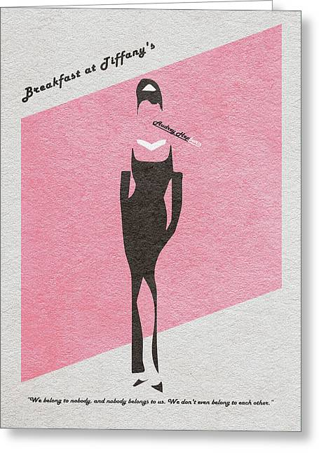 Vintage Movie Poster Greeting Cards - Breakfast at Tiffanys Greeting Card by Ayse Deniz