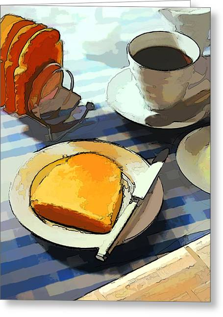 After Dinner Greeting Cards - Breakfast Coffee Greeting Card by Elaine Plesser