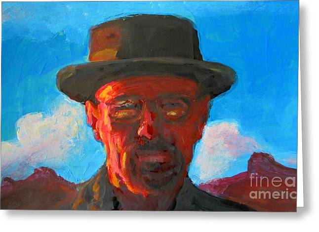 Movie Art Greeting Cards - Breaking Bad Art One Greeting Card by John Malone