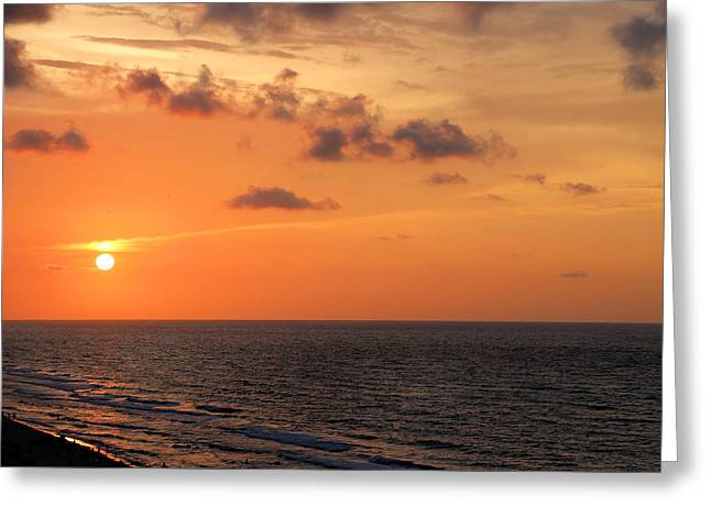Panama City Beach Digital Greeting Cards - Breaking Dawn Gulf of Mexico Greeting Card by Theresa Campbell