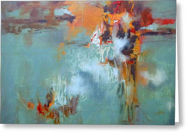 Recently Sold -  - Donna Shortt Greeting Cards - Breaking Free Abstract Greeting Card by Donna Shortt