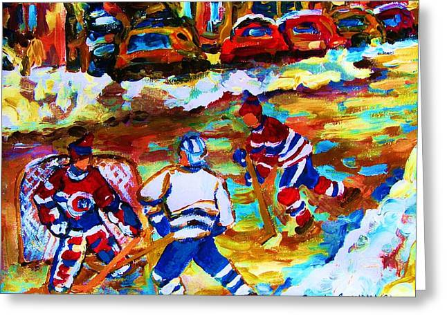 Breaking  The Ice Greeting Card by Carole Spandau