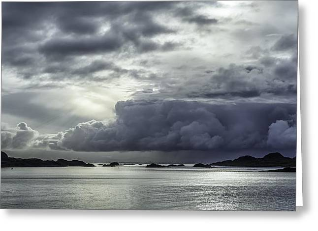 Lofoten Greeting Cards - Breaking through the clouds Greeting Card by Tor-Ivar Naess