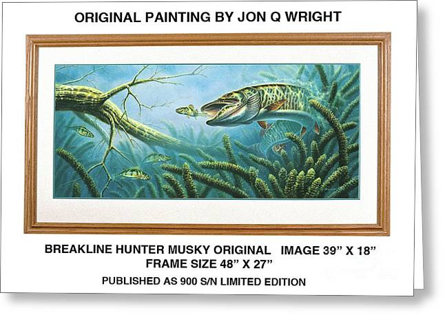 Breakline Hunter Musky Greeting Card by JQ Licensing