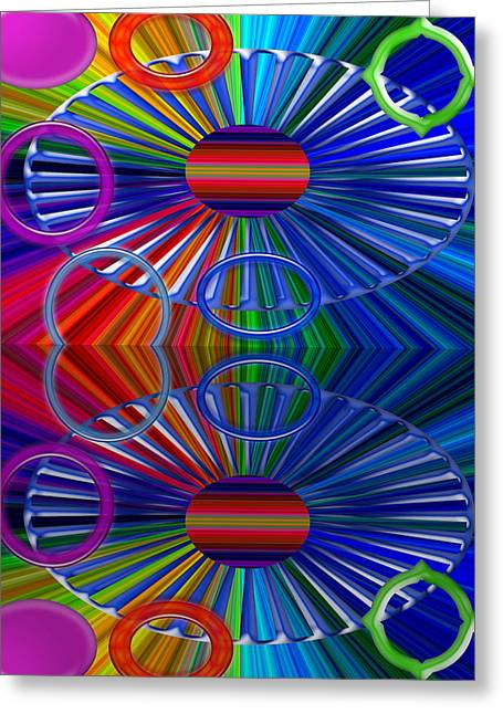 Digital Installation Art Greeting Cards - Breaks Greeting Card by Tina M Wenger