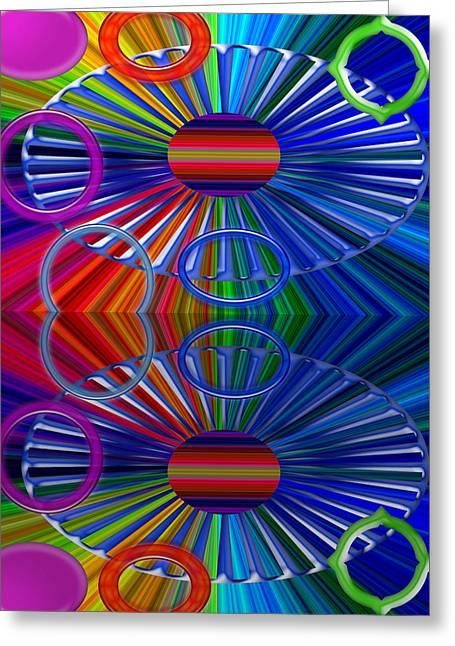 Geometric Digital Art Greeting Cards - Breaks Greeting Card by Tina M Wenger