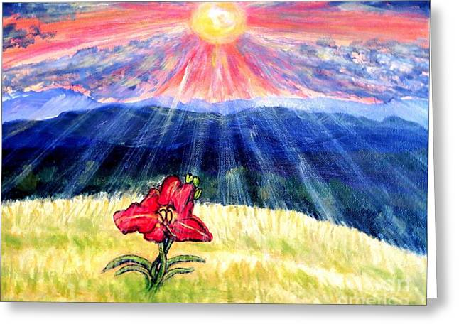 Breakthrough Of Hope Greeting Card by Kimberlee Baxter